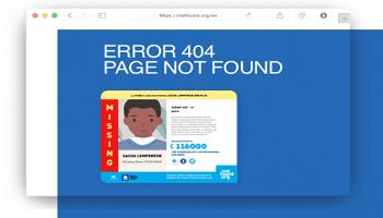 Help vermiste kinderen terug te vinden via jouw website.
